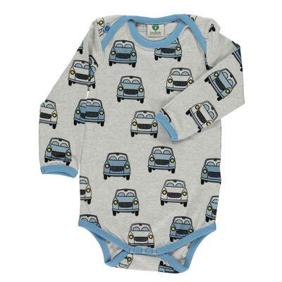 Småfolk Biler Body, Light Grey Mix 74 - Børnetøj - Småfolk