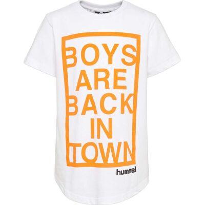 Hummel Bryan T-Shirt, White 134 - Børnetøj - Hummel