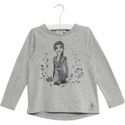 Wheat Frozen Elsa T-Shirt, Melange Grey, 110 - Børnetøj - Wheat