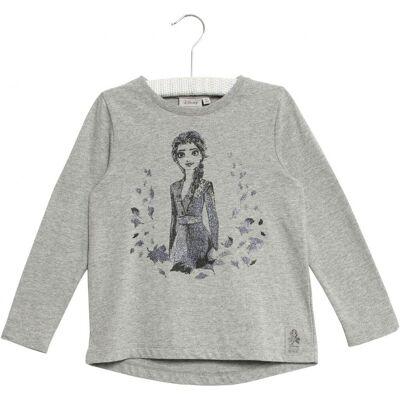 Wheat Frozen Elsa T-Shirt, Melange Grey, 98 - Børnetøj - Wheat