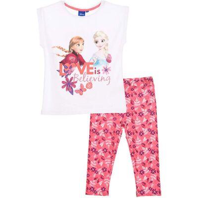 Disney Frozen T-Shirt & Leggings, Hvid 8 år - Børnetøj - Disney