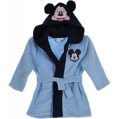Disney Mickey Mouse Morgenkåbe m. Hjemmesko, Blue 9-12mdr - Børnetøj - Disney