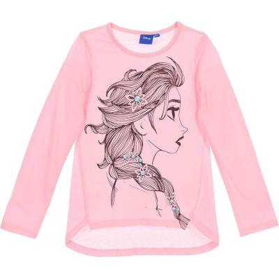 Disney Frozen Langærmet T-Shirt, Pink 8 - Børnetøj - Disney