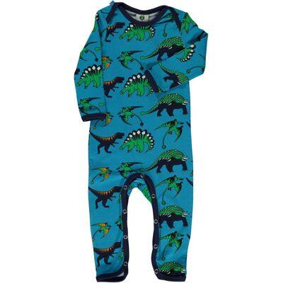 Småfolk Dinosaurus Heldragt, Ocean Blue, 86 - Børnetøj - Småfolk