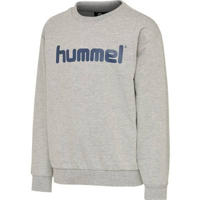 Hummel Waris Sweatshirt, Grey Melange, 128 - Børnetøj - Hummel