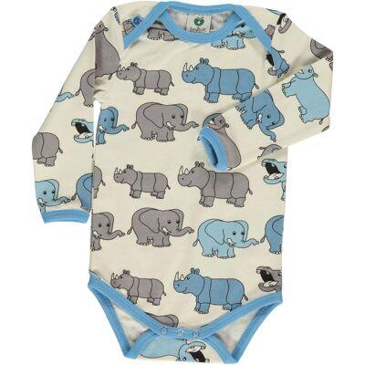 Småfolk Elefant Body, Air Blue 80 - Børnetøj - Småfolk