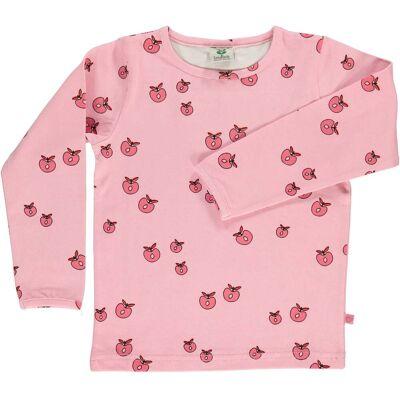 Småfolk T-Shirt Æble, Sea Pink 3-4år - Børnetøj - Småfolk