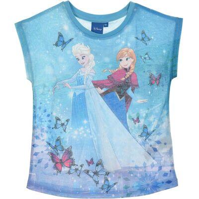 Disney Frozen T-Shirt, Blå 5 År - Børnetøj - Disney