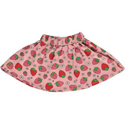 Småfolk Jordbær Nederdel, Silver Pink 7-8år - Børnetøj - Småfolk