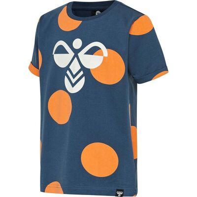 Hummel Bob T-Shirt, Dark Denim, 110 - Børnetøj - Hummel