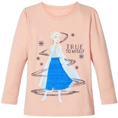 Name it Ember Trøje Frozen, Silver Pink, 122/128 - Børnetøj - Name it