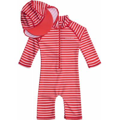 Nordbjørn Vrångö UV-Dragt & Hat, Red Stripe 110-116 - Børnetøj - Nordbjørn