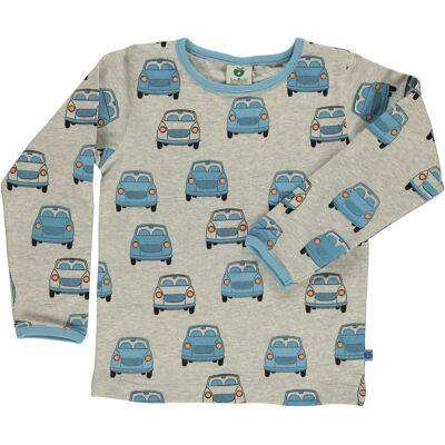 Småfolk Biler Trøje, Light Grey Mix 3-4år - Børnetøj - Småfolk