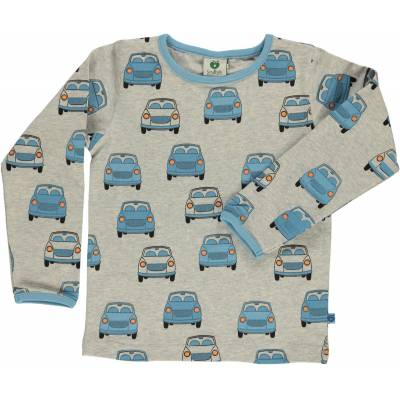 Småfolk Biler Trøje, Light Grey Mix 7-8år - Børnetøj - Småfolk
