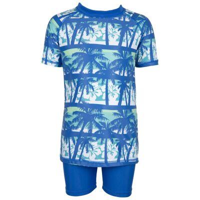 Max Collection Badetøj UV50+, Blue/White 122-128 - Børnetøj - Max Collection