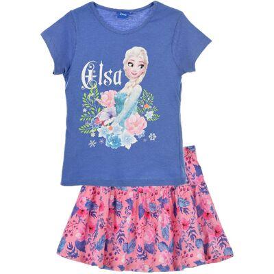 Disney Frozen T-Shirt & Nederdel, Blå 8 år - Børnetøj - Disney