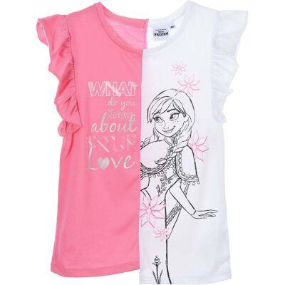 Disney Frozen T-Shirt, Lyserød 4 år - Børnetøj - Disney