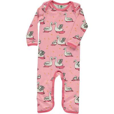 Småfolk Heldragt, Sea Pink 80 - Børnetøj - Småfolk