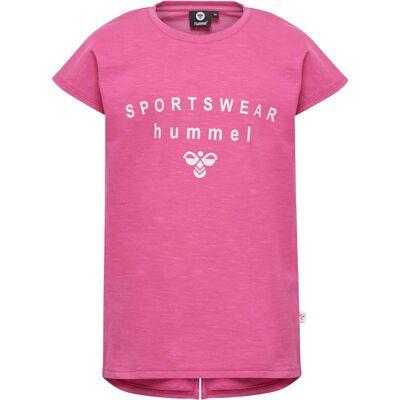 Hummel Frederikka T-Shirt, Shocking Pink 122 - Børnetøj - Hummel