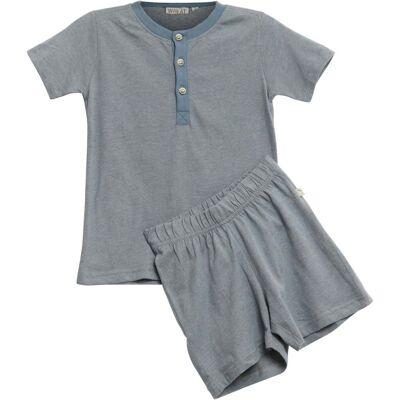 Wheat Pyjamas Sæt, Dusty Blue 122 - Børnetøj - Wheat