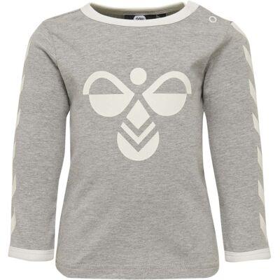 Hummel Freddie T-Shirt, Grey Melange 86 - Børnetøj - Hummel
