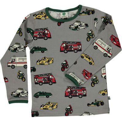 Småfolk Langærmet T-Shirt, Wilde Dove 1-2 år - Børnetøj - Småfolk