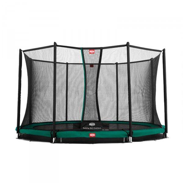 Berg trampolin InGround Favorit inkl. sikkherhedsnet Comfort 380 cm grøn