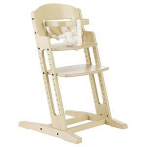 Baby Dan White Wooden Chair with Handle and Strap One Size
