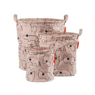 Done by Deer 3-Pack Soft Storage Baskets Powder One Size - Babymøbler - Done by Deer