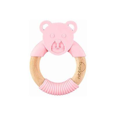 Nibbling Bear Forest Friend Natural Gumme Legetøj Pink One Size - Baby Spisetid - Nibbling