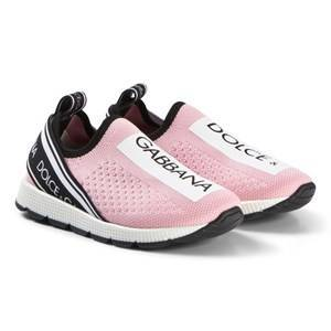 Dolce & Gabbana Pink and White Logo Mesh Trainers 36 (UK 3.5)