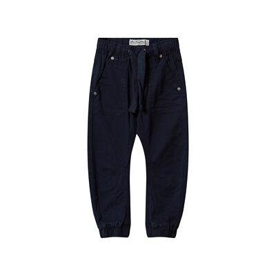 Minymo Twill Tiny Loose Pants Dark Navy 68 cm - Børnetøj - Minymo