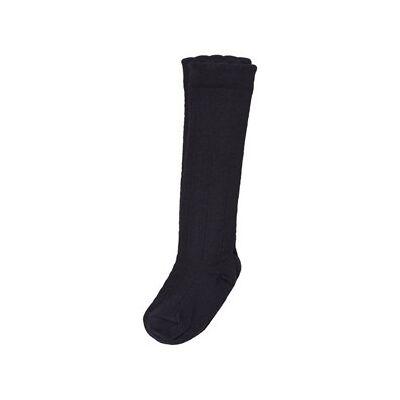 Lillelam Knee-High Socks Navy 14-16 (3-6 mdr) - Børnetøj - Lillelam