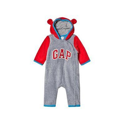 GAP Heather Gray Bear Hood Romper 18-24 mdr - Børnetøj - GAP