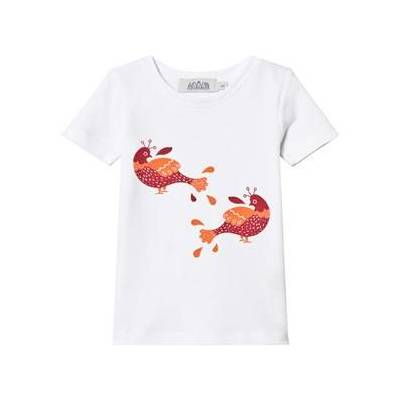 Anïve For The Minors White Bird Print T-Shirt 7-8 år - Børnetøj - Anïve For The Minors