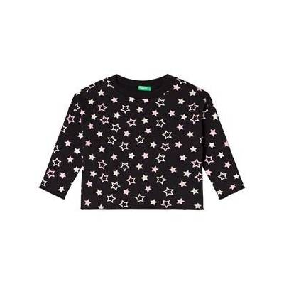 United Colors of Benetton Star Print Sweater Black XXS (3-4 år) - Børnetøj - United Colors of Benetton