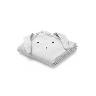 Liewood 2-Pack Hannah Muslin Cloths Rabbit Dumbo Grey One Size - Børnetøj - Liewood