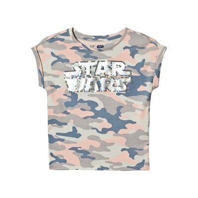GAP Camouflage Star Wars™ Sequin T-Shirt S (6-7 år) - Børnetøj - GAP