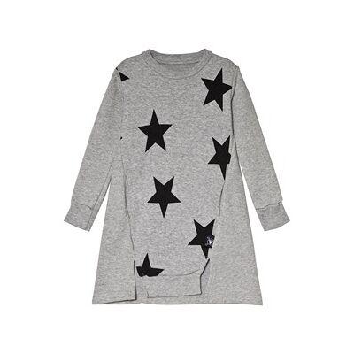 NUNUNU Star A Dress Heather Grey 18-24 mdr - Børnetøj - NUNUNU