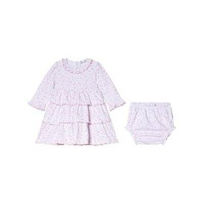 Kissy Kissy Pink Queen od Castle Floral Print Ruffle Dress and Bloomers Set 3-6 months - Børnetøj - Kissy Kissy