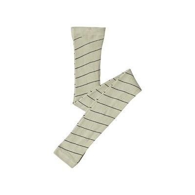 Tinycottons Diagonal Stripe Footless Tights Pistachio/Navy 0-6 Months - Børnetøj - Tinycottons