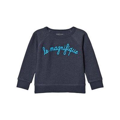Maison Labiche Navy Le Magnifique Sweatshirt 12 years - Børnetøj - Maison Labiche