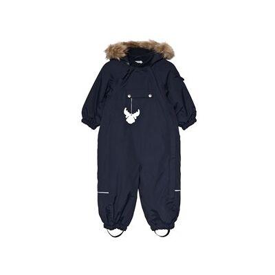 Wheat Snowsuit Nickie Navy 9m/74cm - Børnetøj - Wheat