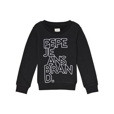 Pepe Jeans Black Liam Flock Branded Sweatshirt 14 years - Børnetøj - Pepe Jeans