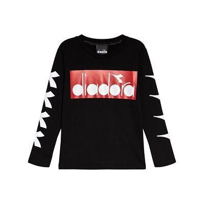 Diadora Black Red & White Branded T-Shirt XXS (4 years) - Børnetøj - Diadora