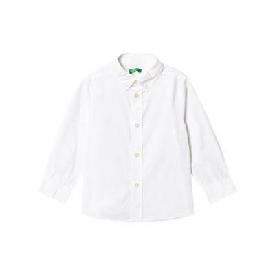 United Colors of Benetton White Collar Shirt 11/12Y (2XL 160cm) - Børnetøj - United Colors of Benetton