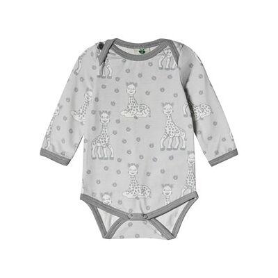 Småfolk Sophie the Giraffe Baby Body Grey 74cm (9 months) - Børnetøj - Småfolk
