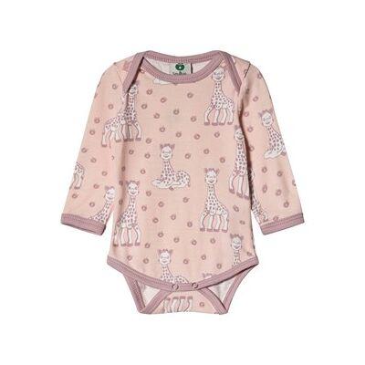 Småfolk Sophie the Giraffe Baby Body Pink 68cm (6 months) - Børnetøj - Småfolk
