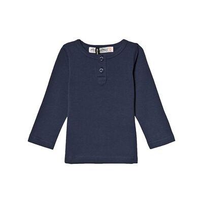 Minymo Grandpa T-Shirt Dark Blue 152 cm (11-12 år) - Børnetøj - Minymo