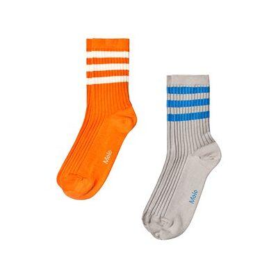 Molo 2-Pack Nickey Socks Civilization 20-22 (12 -18 mdr) - Børnetøj - Molo